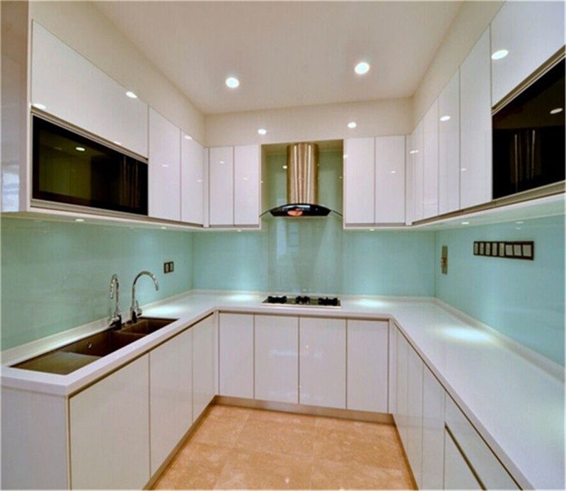 White Kitchen Cabinets High Gloss: High Gloss Kitchen Cabinet Whole Set Design On Sale