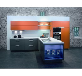 high gloss small kitchen cabinet