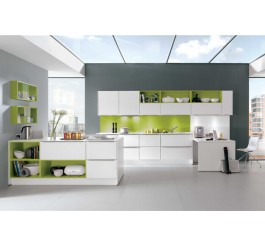 plywood high gloss white kitchen cabinet