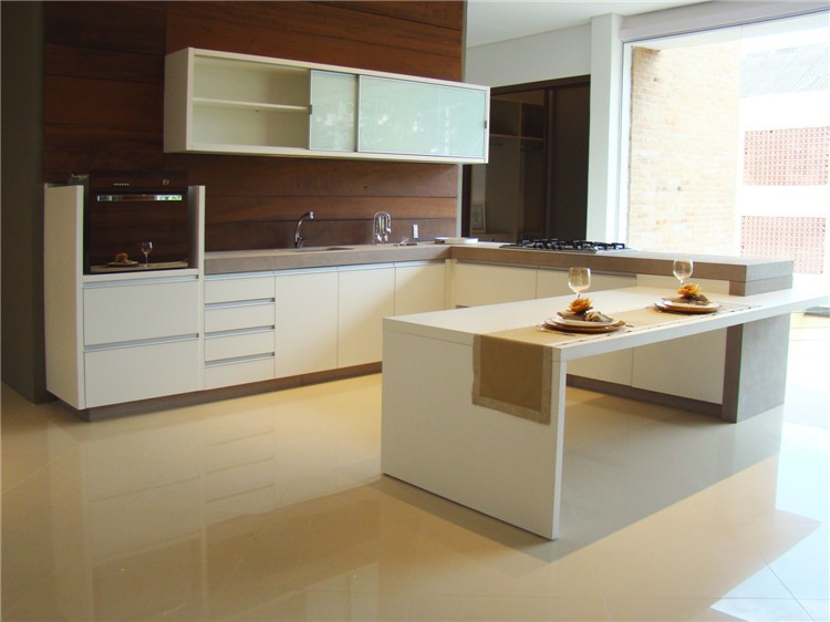 Mdf uv high gloss kitchen cabinet price for High gloss kitchen cabinets