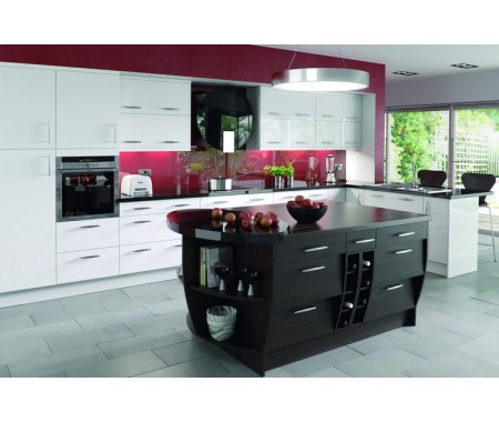 high gloss plywood kitchen cabinet design