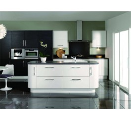 high gloss lacquer kitchen cabinet design