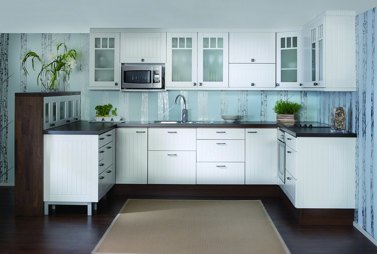 PVC Kitchen Cabinet High Gloss Plywood Kitchen Cabinet Whole Sets