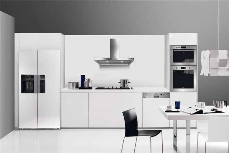 White Gloss High Kitchen Cabinet
