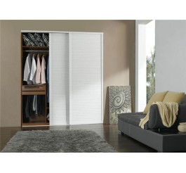 high gloss sliding door wardrobe design