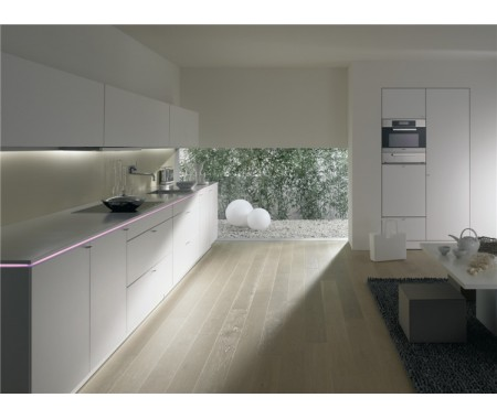 Customized UV High Gloss White Kitchen Cabinet Sets with Affordable Price