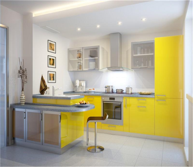Kitchen Cabinet Elegant European Style High Gloss Kitchen Cabinets