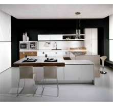 uv mdf high gloss balck kitchen cabinet