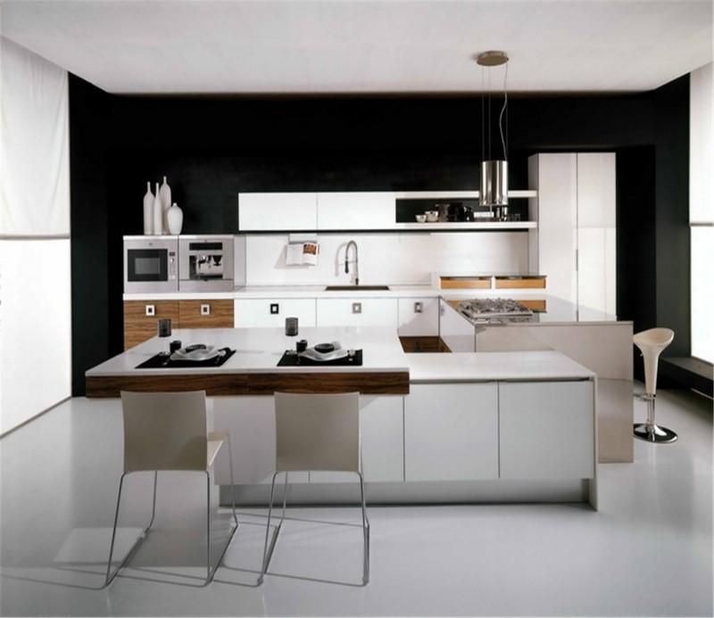 Kitchen Design Uv: Uv Mdf High Gloss Balck Kitchen Cabinet