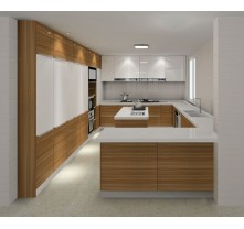 2016 New Design High Gloss Plywood Kitchen Cabinet