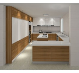 Custom Grey Kitchen Cabinet · 2016 New Design High Gloss Plywood Kitchen  Cabinet