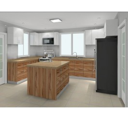 UV High Gloss Kitchen Cabinet