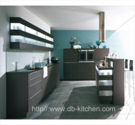 high quality grey melamine custom kitchen cabinet