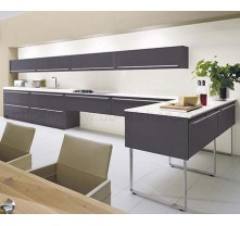 High quality grey lacquer kitchen cabinet China