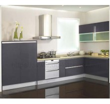 China High Gloss Plywood Grey Kitchen Cabinet Supplier With - Lacquer kitchen cabinets