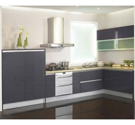 New design grey lacquer kitchen cabinet China