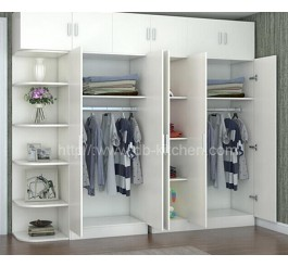 High Quality Wooden White 3 Doors Modern Wardrobe Design