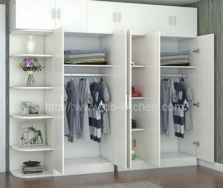 High quality wooden white 3 doors modern wardrobe design for Kitchen wardrobe design