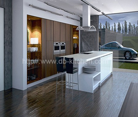 High-end Plywood China Acrylic Kitchen Cabinet