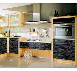 Plywood Black Acrylic Kitchen Cabinet