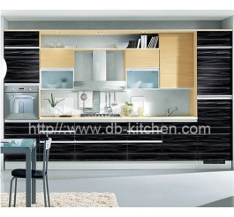Custom Make Plywood Black Acrylic Kitchen Cabinet China