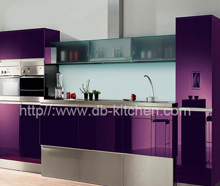 High Gloss Plywood Acrylic Kitchen Cabinet Design