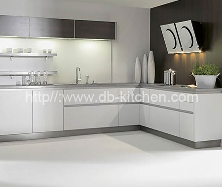 Plywood white acrylic kitchen cabinet for Acrylic kitchen cabinets