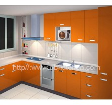 Custom Make High-end Acrylic Kitchen Cabinet
