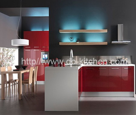 how to make high gloss kitchen cabinets
