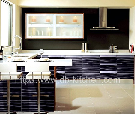 Plywood Colorful Acrylic Kitchen Cabinet