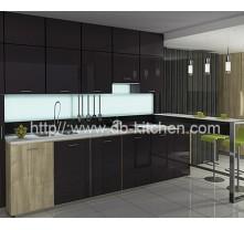 Plywood White Acrylic Kitchen Cabinet