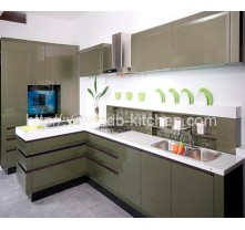 High Gloss Plywood Grey Acrylic Kitchen Cabinet Supplier