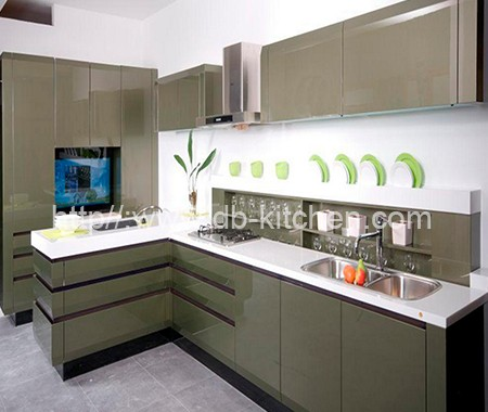 kitchen cabinet supplier high gloss plywood grey acrylic kitchen cabinet supplier 19669