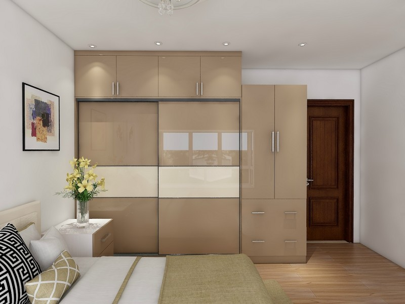 Color Combination Bedroom Wardrobe Design