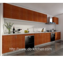 red cherry melamine kitchen cabinet for aprartment project