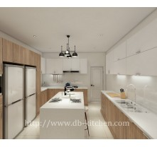 Black walnut  veneer kitchen cabinet design
