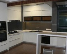 High Quality Plywood Kitchen Cabinet Manufacure