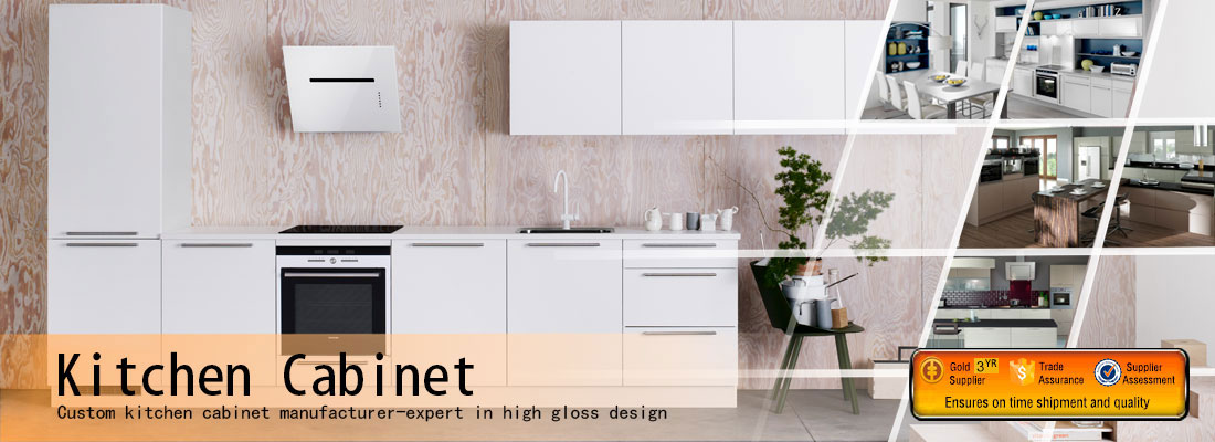 high gloss white kitchen cabinet design