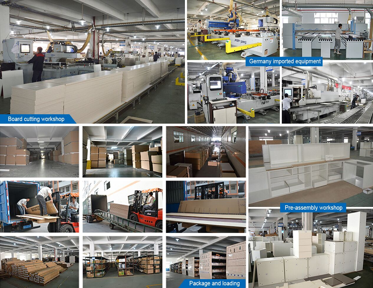 Germany imported kitchen cabinet production equipment