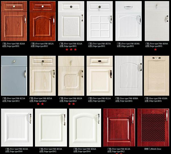 kitchen cabinet door material jisheng pvc series kitchen cabinet with thermofoil 18561