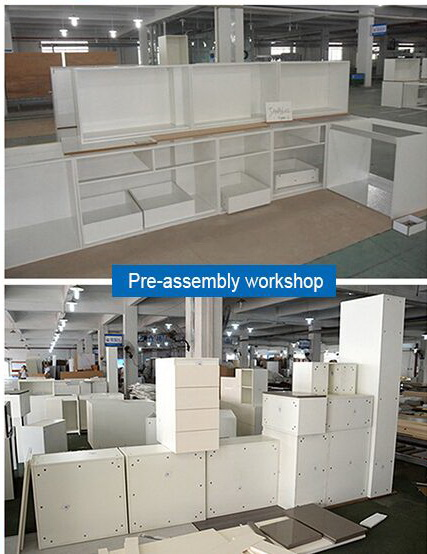 Pre-assembly workshop of cabient