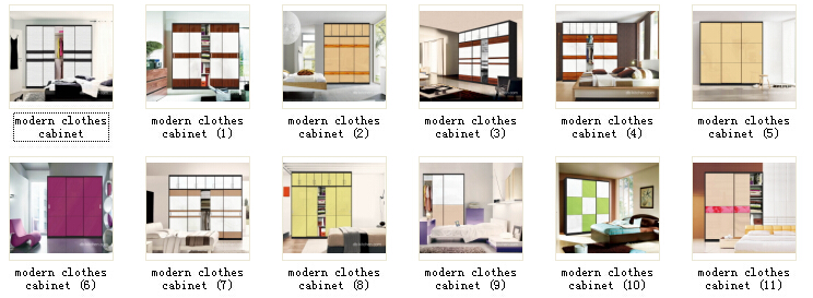 modern clothes cabinet