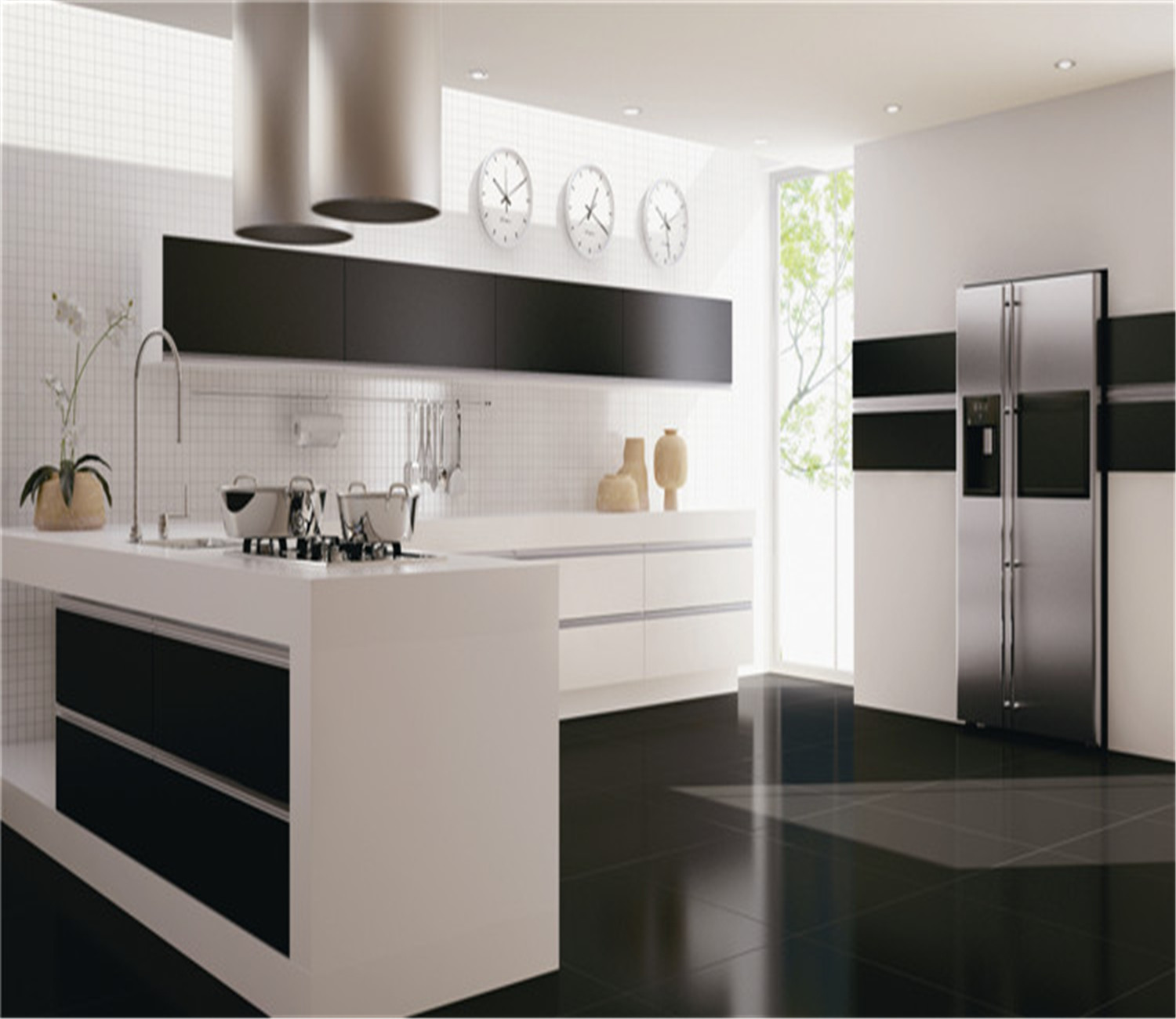 Modern design custom uv kitchen cabinet for Kitchen cabinets 800mm