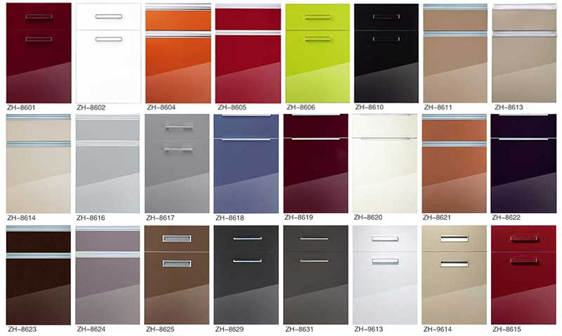 acrylic kitchen cabinets door