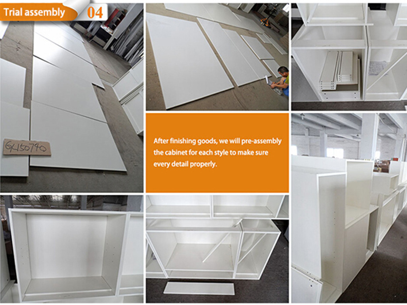 China acrylic plywood kitchen cabinets